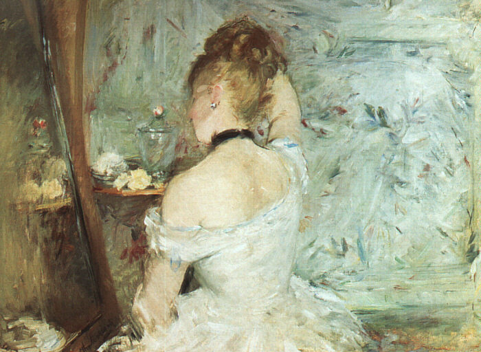 Berthe Morisot - A Woman at her Toilette - 1875